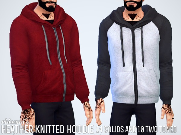 Heather Knitted Hoodie by Chisimi at TSR image 952 Sims 4 Updates