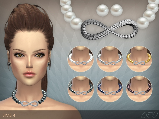 INFINITY PEARLS NECKLACE amp STUD EARRINGS at BEO Creations