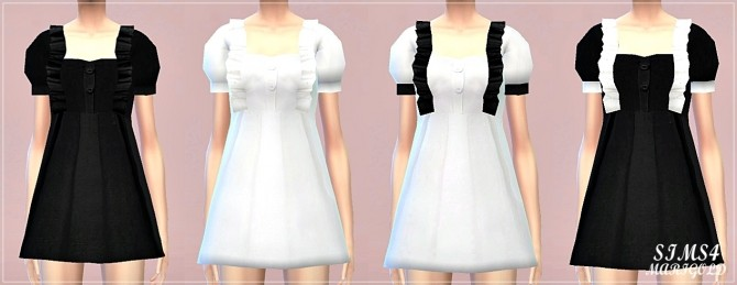 Frill Baby Doll Dress At Marigold 187 Sims 4 Updates