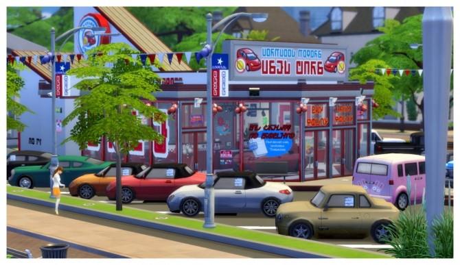 Sims 4 Wormwood Motors Retail Lot at SimDoughnut