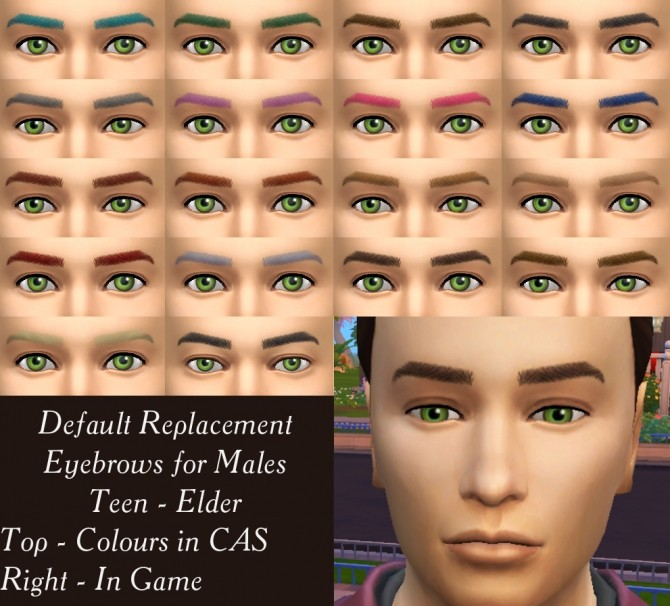 Default Replacement Eyebrows For Males By Simmiller At Mod The Sims