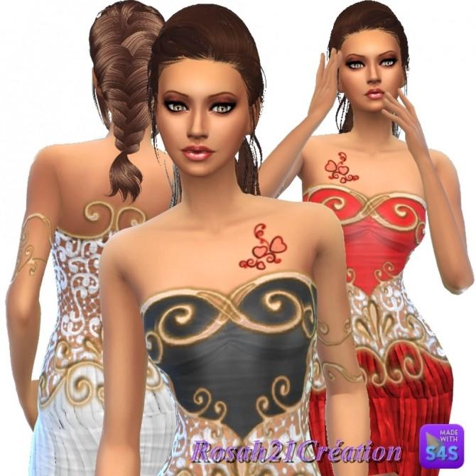Entrelacs et dentelle dress by Rosah at Sims Dentelle image 9924 670x670 Sims 4 Updates