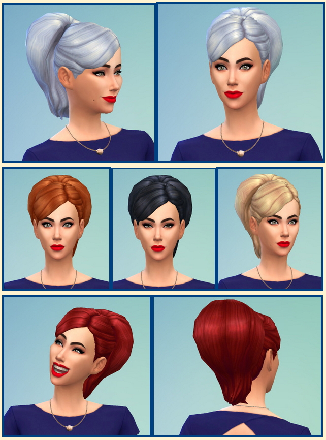 Sims 4 Big Bun Hair at Birksches Sims Blog