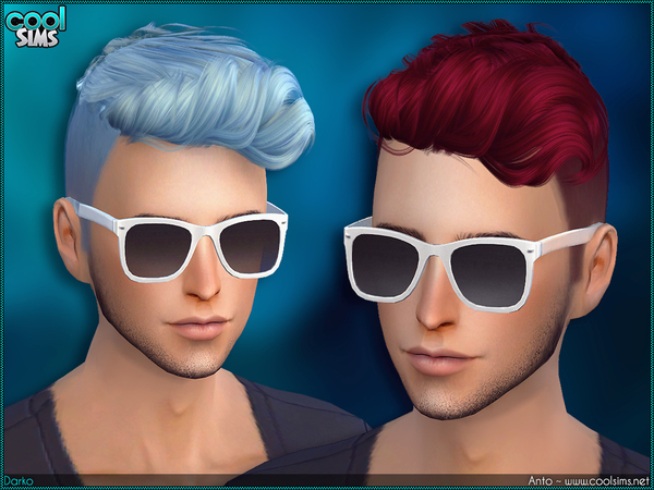 Sims 4 Anto Darko males side shaved hair by Alesso at TSR