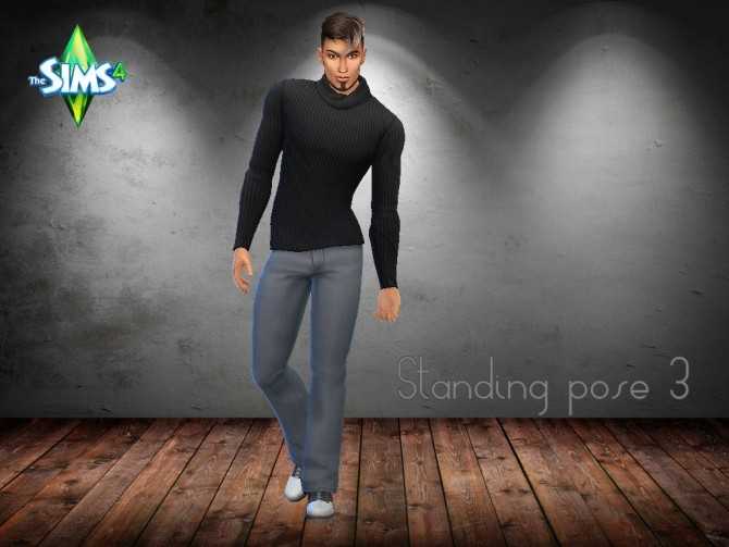 Sims 4 5 Male Standing Poses Set at MartyP Sims4