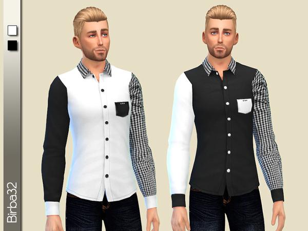 Sims 4 Modern Man Shirt by Birba32 at TSR