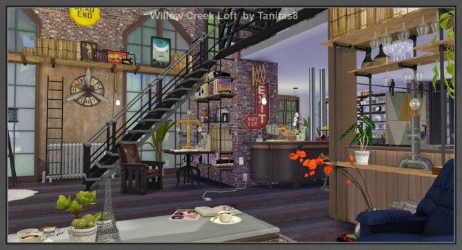 Willow Creek Loft At Tanitas8 Sims 187 Sims 4 Updates