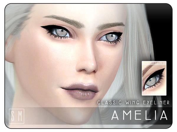Sims 4 Amelia Classic Eyeliner by Screaming Mustard at TSR