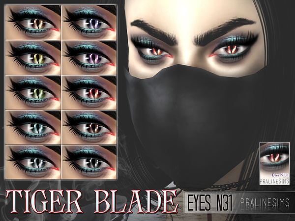 Sims 4 Tiger Blade Eyes N31 by Pralinesims at TSR