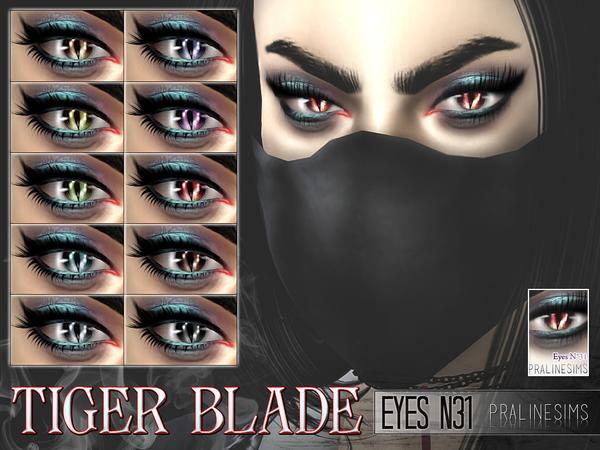 Tiger Blade Eyes N31 by Pralinesims at TSR image 1031 Sims 4 Updates
