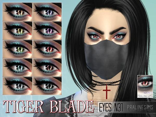 Tiger Blade Eyes N31 by Pralinesims at TSR image 1041 Sims 4 Updates