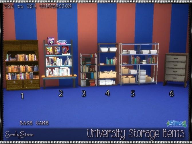 University Bookcases & Dresser at SrslySims image 1067 670x503 Sims 4 Updates