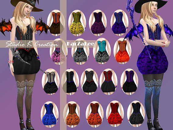 Little Witch Outfit At Studio K Creation 187 Sims 4 Updates
