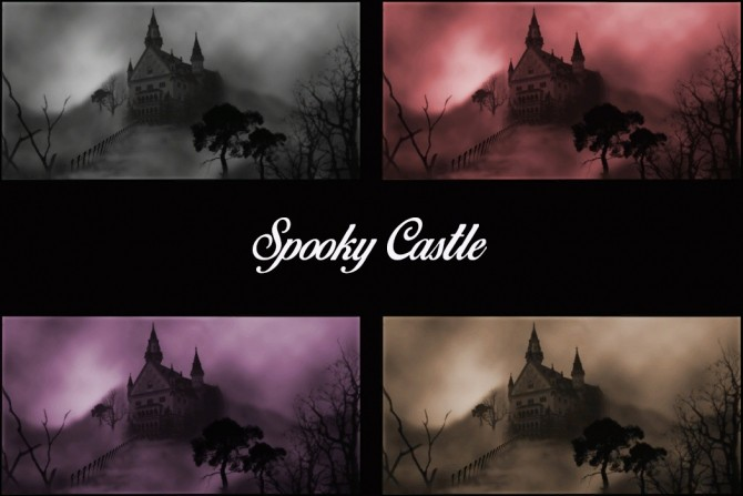 Sims 4 The Spooky Castle Paintings by Simmiller at Mod The Sims