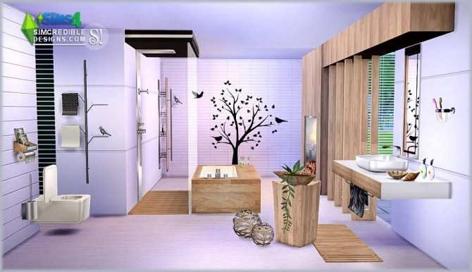 Modernism add ons bathroom at simcredible designs 4 for Bathroom design simulator