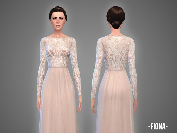 Fiona wedding gown by April at TSR image 1091 Sims 4 Updates