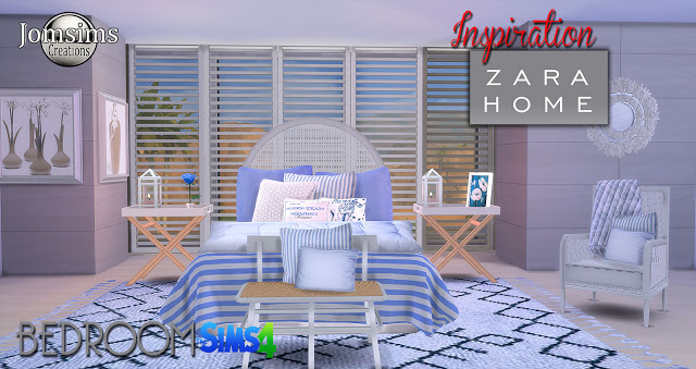 Inspiration Zara Home Bedrooom At Jomsims Creations Sims 4 Updates