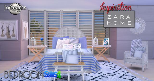 Inspiration Zara Home Bedrooom At Jomsims Creations Sims 4 Updates