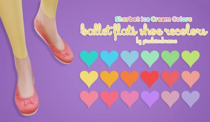 Sims 4 Ballet Flats Shoe Recolors at Pixelsimdreams