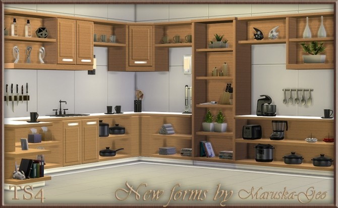 Sims 4 New Forms Kitchen at Maruska Geo