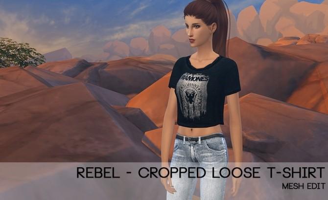 Sims 4 Rebel cropped tee at Porcelain Warehouse