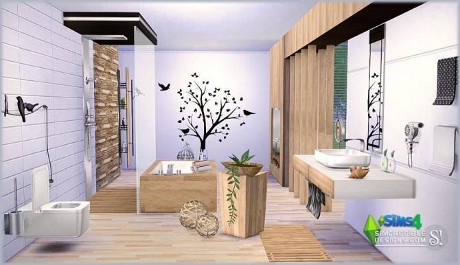 Modernism Add Ons & Bathroom at SIMcredible! Designs 4 image 1114 670x386 Sims 4 Updates