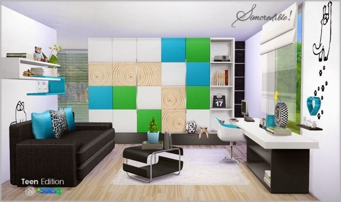 Teenroom Edition at SIMcredible! Designs 4 image 11213 670x397 Sims 4 Updates