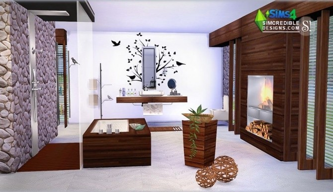 Sims 4 Modernism Add Ons & Bathroom at SIMcredible! Designs 4