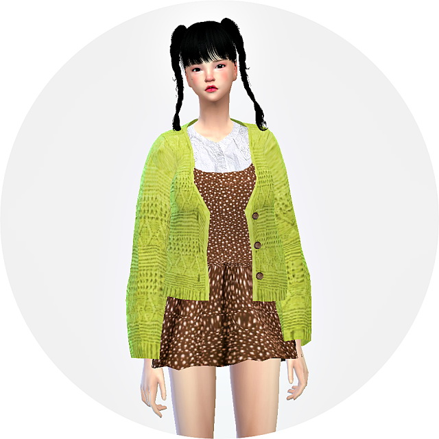 Sims 4 Lovely knit cardigan ACC. at Marigold