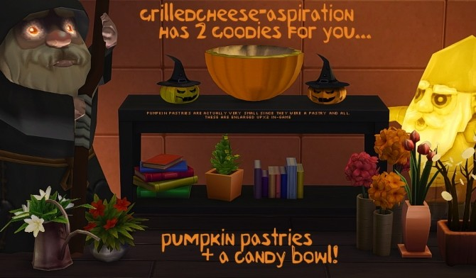 Sims 4 Pumpkin Pastries + Candy Bowl at Grilled Cheese Aspiration