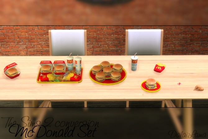 Sims 4 McDonald Set by DalaiLama at The Sims Lover