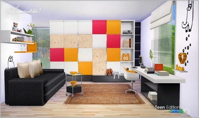 Teenroom Edition at SIMcredible! Designs 4 image 11412 670x397 Sims 4 Updates