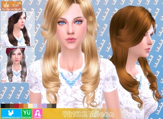 YU182 Aileen hair (Pay) at Newsea Sims 4 image 1152 670x491 Sims 4 Updates
