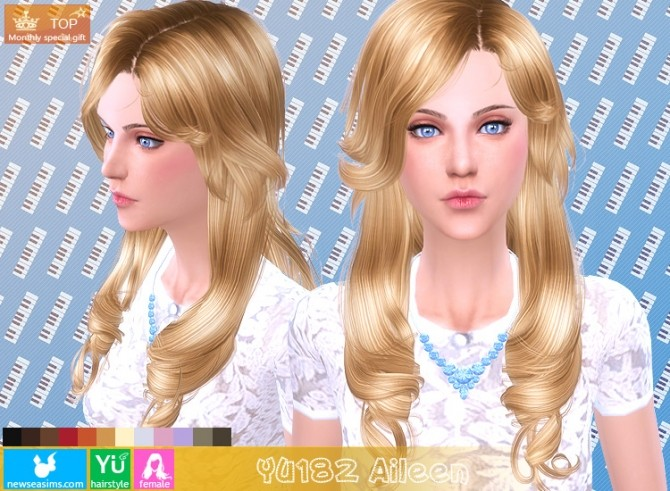 YU182 Aileen hair (Pay) at Newsea Sims 4 image 1162 670x491 Sims 4 Updates