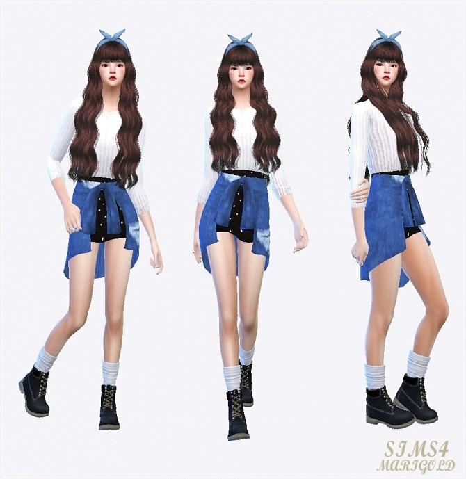 Tied shirts skirt at Marigold image 1163 670x689 Sims 4 Updates