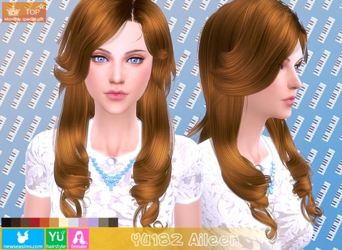 Sims 4 YU182 Aileen hair (Pay) at Newsea Sims 4