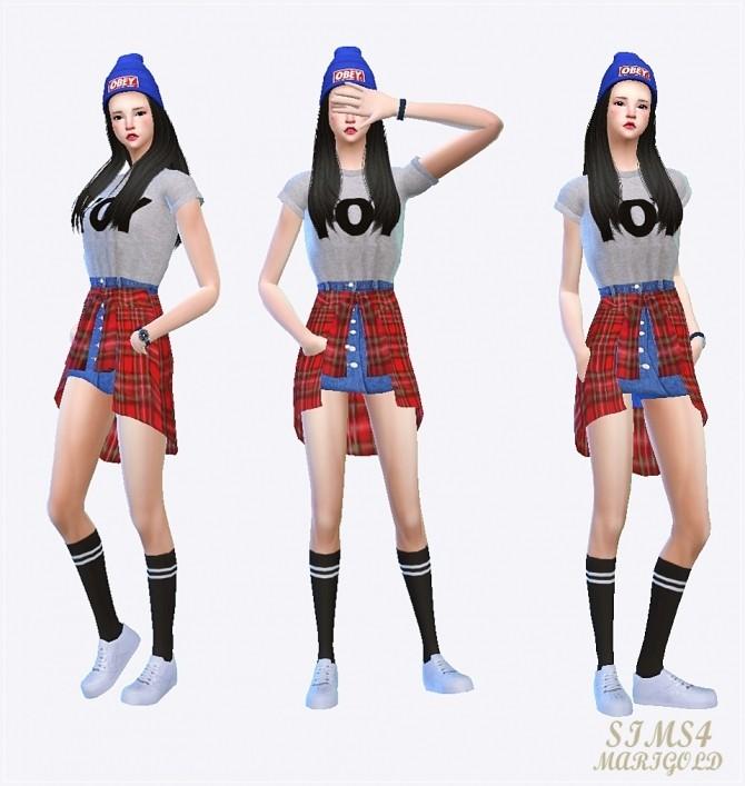 Tied shirts skirt at Marigold image 1173 670x707 Sims 4 Updates