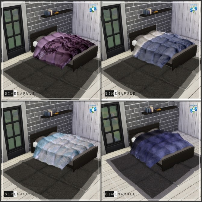 Sims 4 Duvet 01 Blanket by Ronja at Simenapule