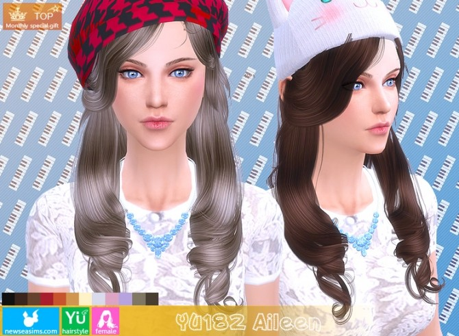 YU182 Aileen hair (Pay) at Newsea Sims 4 image 1182 670x491 Sims 4 Updates
