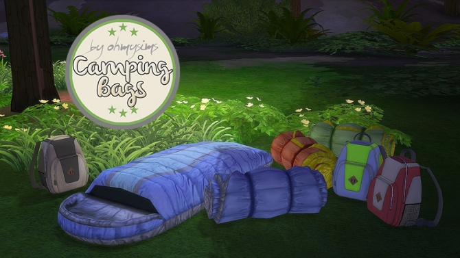 3t4 Camping Bags at Oh My Sims 4 » Sims 4 Updates