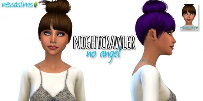 Sims 4 Nightcrawler No Angel hair retexture at Nessa Sims