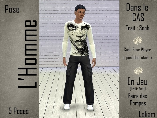 Sims 4 Poses for males by loliam at Sims Artists
