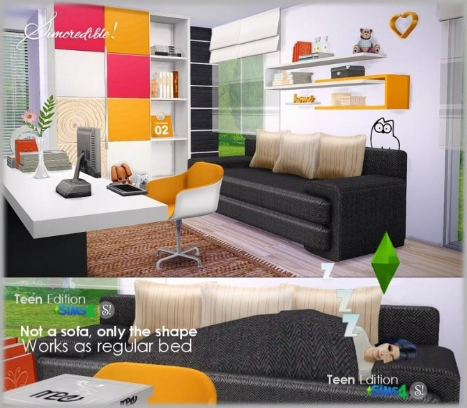 Teenroom Edition at SIMcredible! Designs 4 image 12010 670x586 Sims 4 Updates