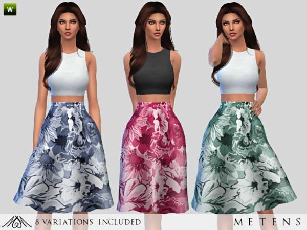 Sims 4 Faded Dress by Metens at TSR