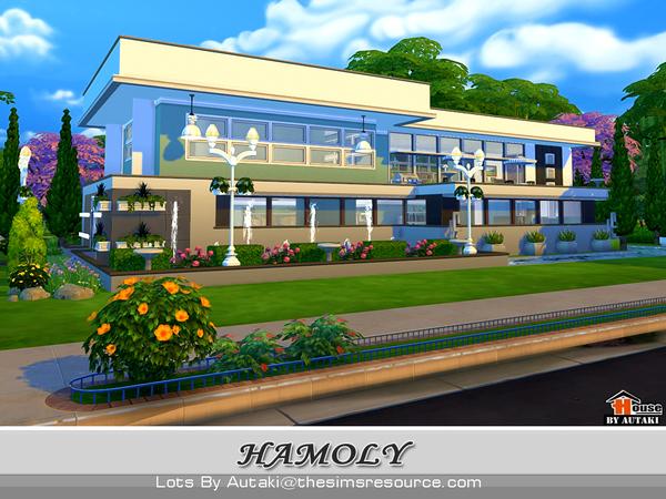 Sims 4 The Hamoly house by autaki at TSR