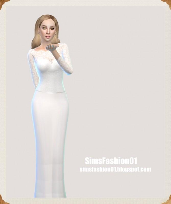 Lace wedding dress at Sims Fashion01 image 12112 670x801 Sims 4 Updates
