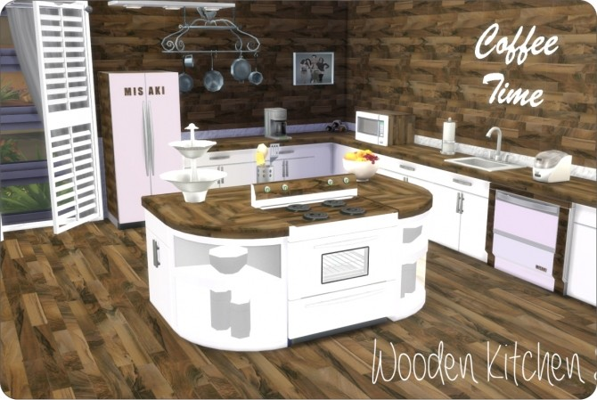 Sims 4 Wooden Kitchen at xMisakix Sims