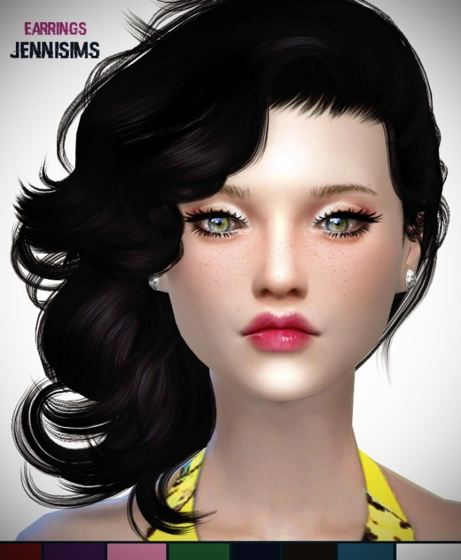 Earrings Tifanny Base Game at Jenni Sims image 122 670x813 Sims 4 Updates