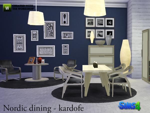 Sims 4 Nordic diningroom by kardofe at TSR
