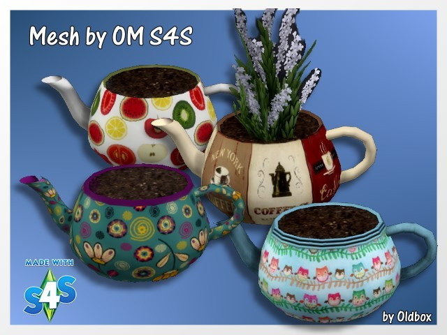 Teapots by Oldbox at All 4 Sims image 12216 Sims 4 Updates